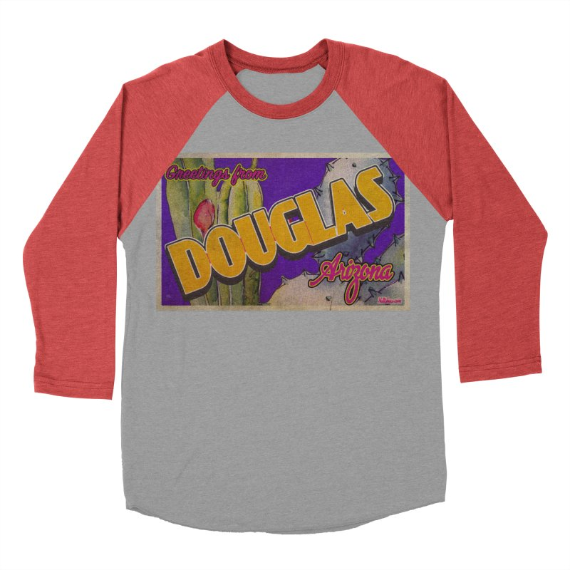 Douglas, AZ. Men's Baseball Triblend Longsleeve T-Shirt by Nuttshaw Studios