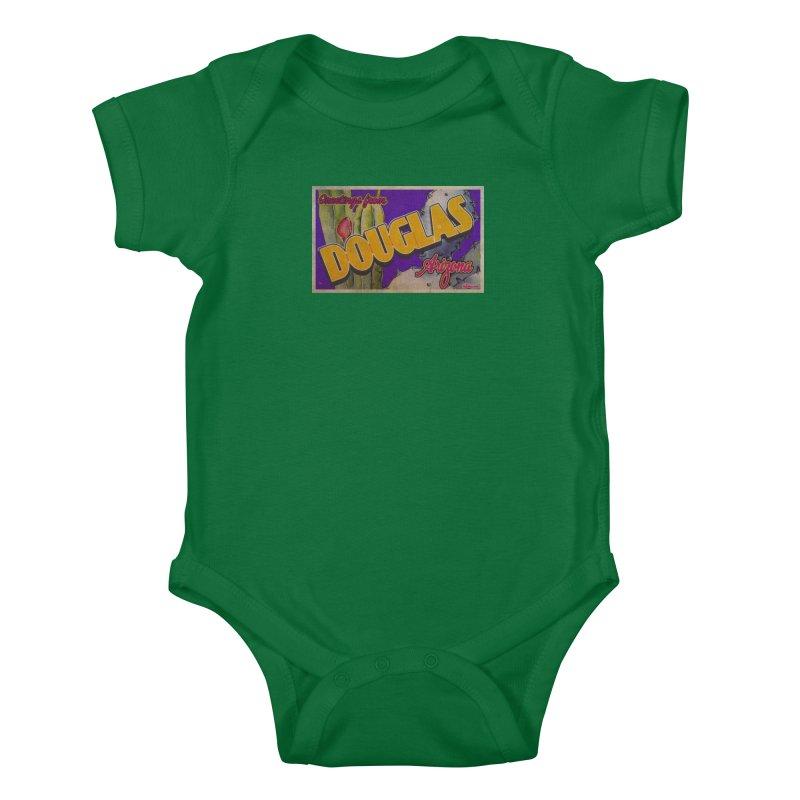 Douglas, AZ. Kids Baby Bodysuit by Nuttshaw Studios