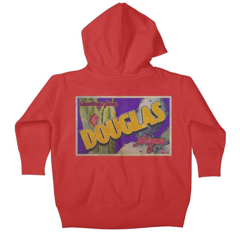 Douglas, AZ. Kids Baby Zip-Up Hoody by Nuttshaw Studios