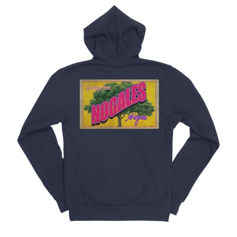 Nogales Walnut Tree Men's Sponge Fleece Zip-Up Hoody by Nuttshaw Studios