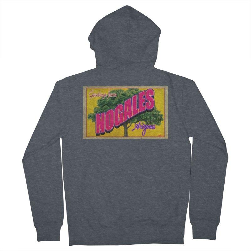 Nogales Walnut Tree Men's Zip-Up Hoody by Nuttshaw Studios