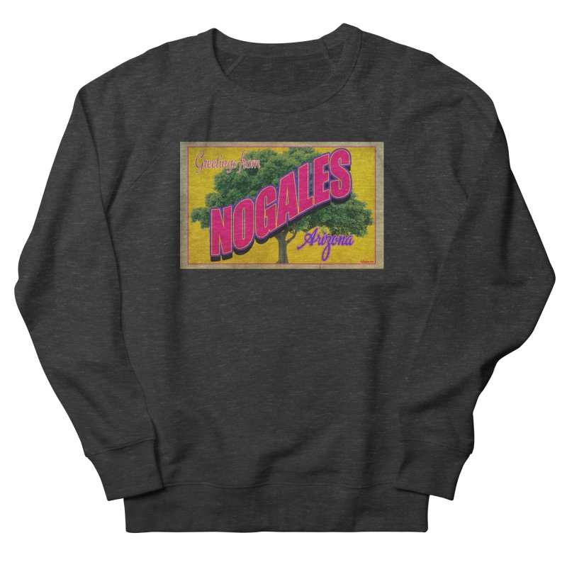 Nogales Walnut Tree Men's French Terry Sweatshirt by Nuttshaw Studios