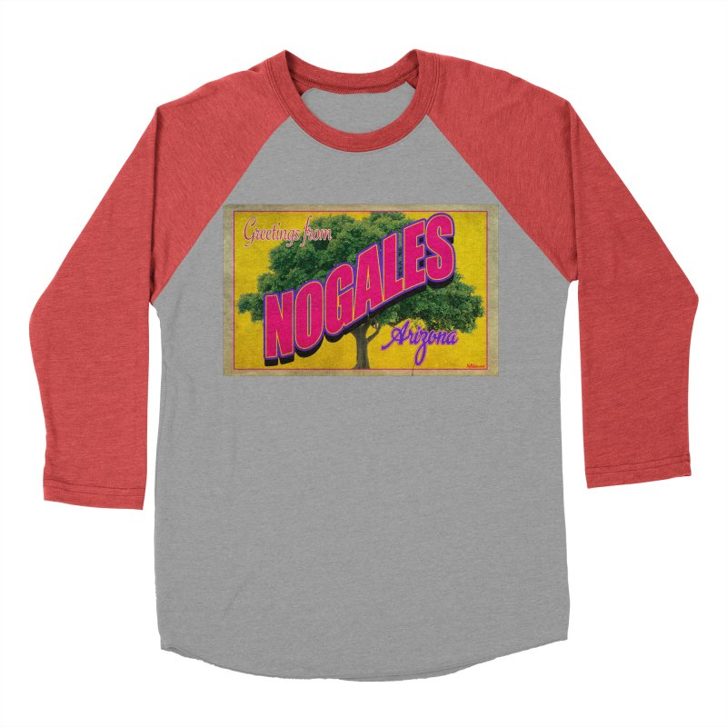 Nogales Walnut Tree Men's Baseball Triblend Longsleeve T-Shirt by Nuttshaw Studios