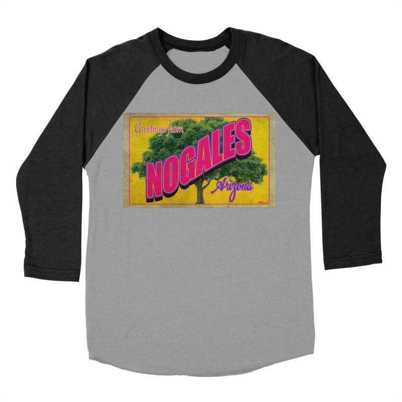 Nogales Walnut Tree Men's Baseball Triblend Longsleeve T-Shirt by Nuttshaw Studios