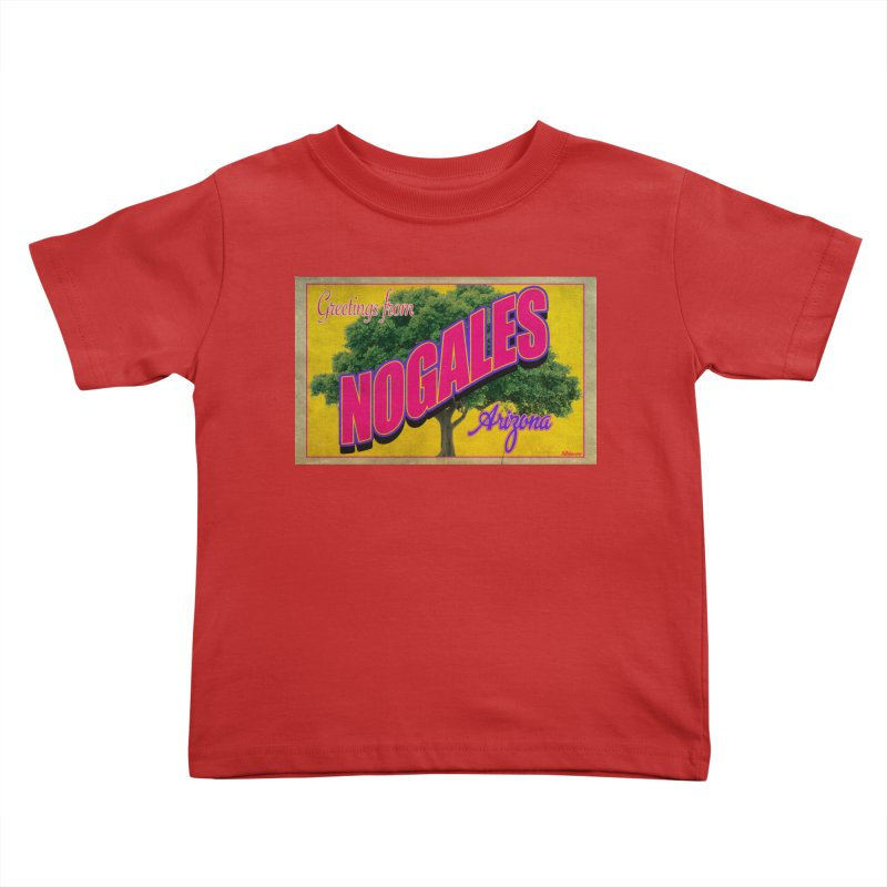 Nogales Walnut Tree Kids Toddler T-Shirt by Nuttshaw Studios