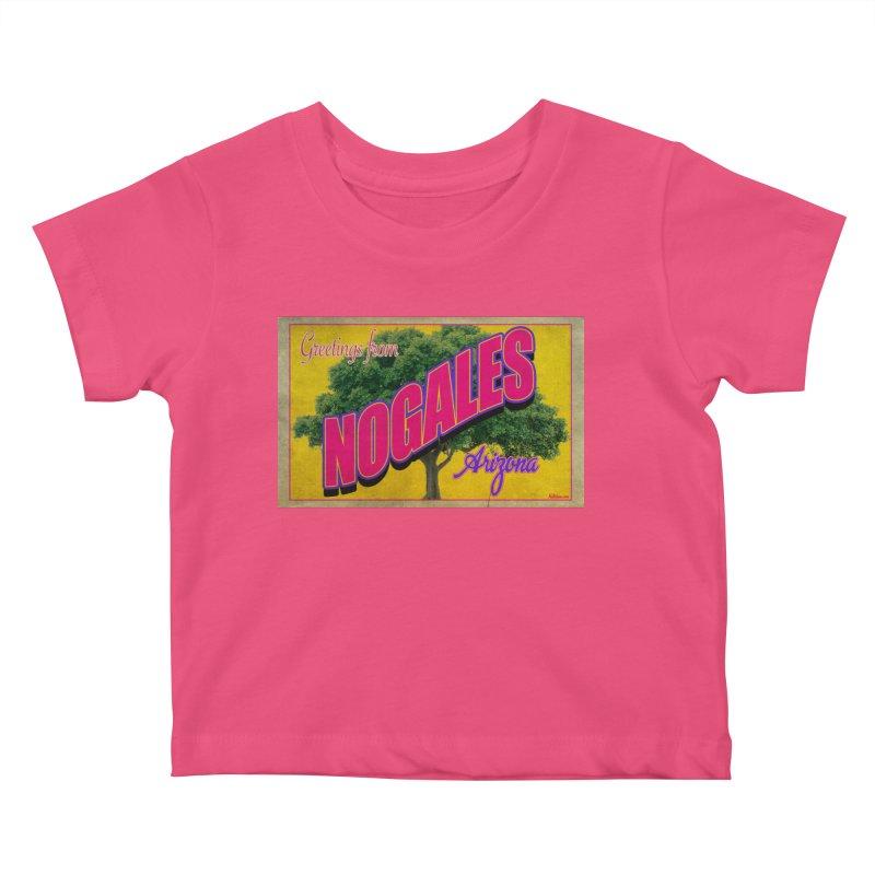 Nogales Walnut Tree Kids Baby T-Shirt by Nuttshaw Studios
