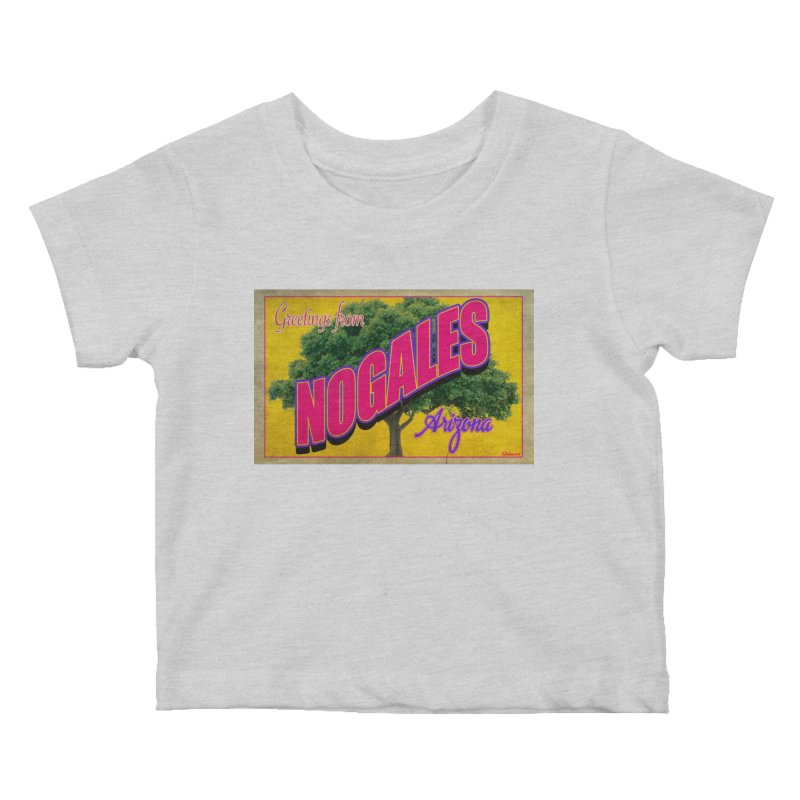 Nogales Walnut Tree Kids Baby T-Shirt by Nuttshaw Studios