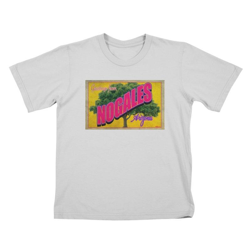 Nogales Walnut Tree Kids T-Shirt by Nuttshaw Studios