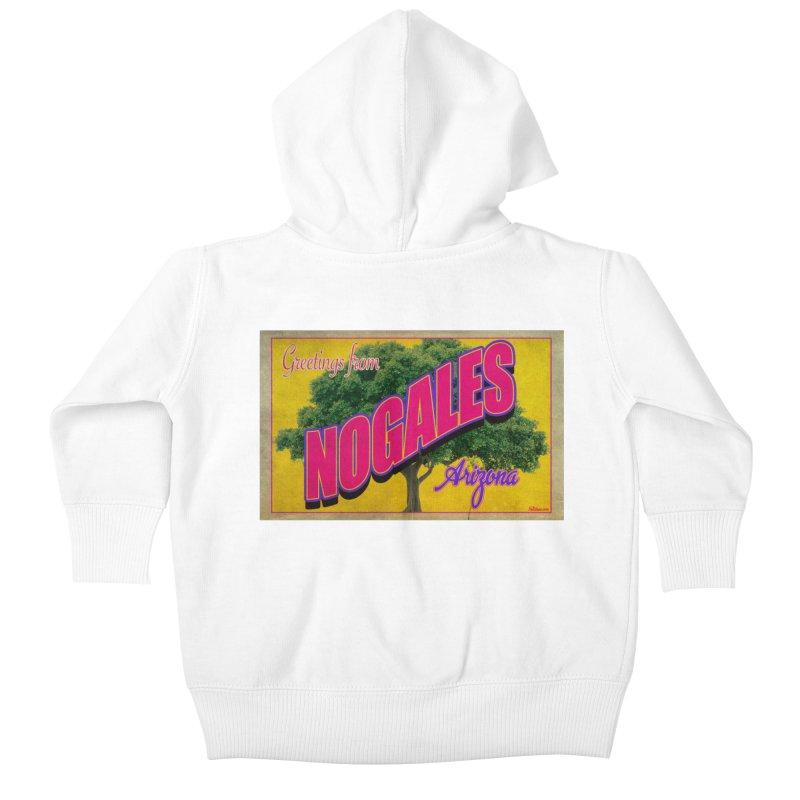 Nogales Walnut Tree Kids Baby Zip-Up Hoody by Nuttshaw Studios