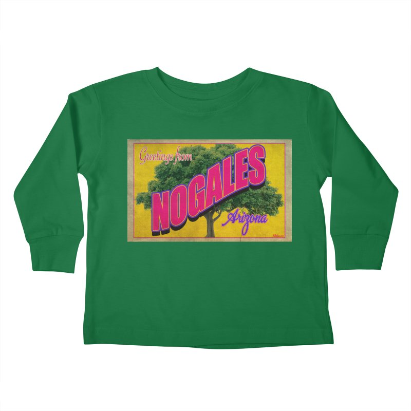 Nogales Walnut Tree Kids Toddler Longsleeve T-Shirt by Nuttshaw Studios