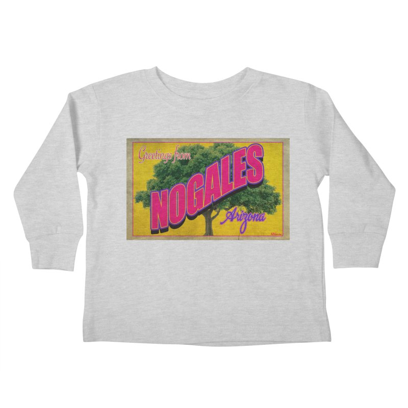 Nogales Walnut Tree Kids Toddler Longsleeve T-Shirt by Nuttshaw Studios