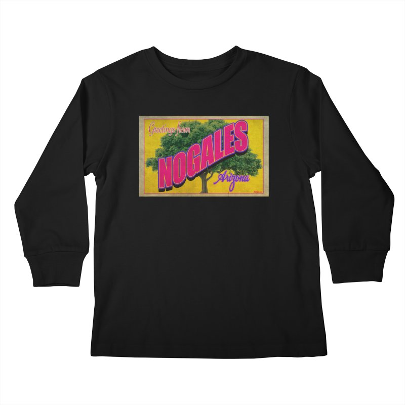 Nogales Walnut Tree Kids Longsleeve T-Shirt by Nuttshaw Studios