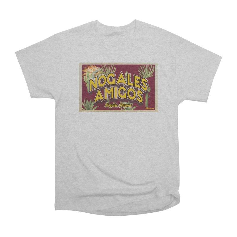 Nogales Amigos, Nogales, Arizona Men's Heavyweight T-Shirt by Nuttshaw Studios