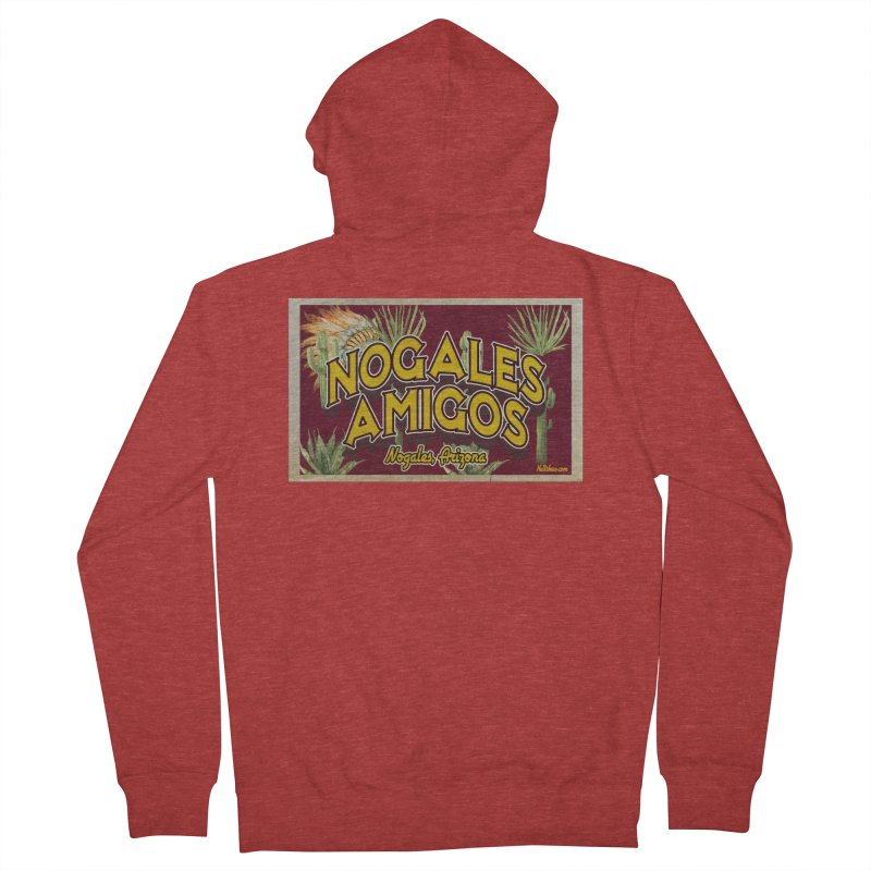 Nogales Amigos, Nogales, Arizona Women's French Terry Zip-Up Hoody by Nuttshaw Studios