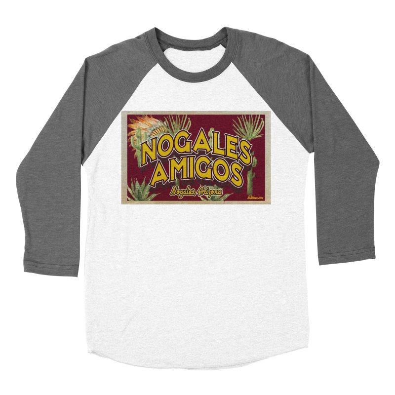 Nogales Amigos, Nogales, Arizona Men's Baseball Triblend Longsleeve T-Shirt by Nuttshaw Studios