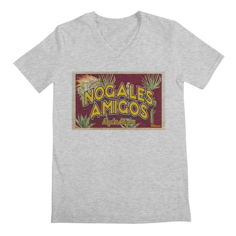Nogales Amigos, Nogales, Arizona Men's Regular V-Neck by Nuttshaw Studios