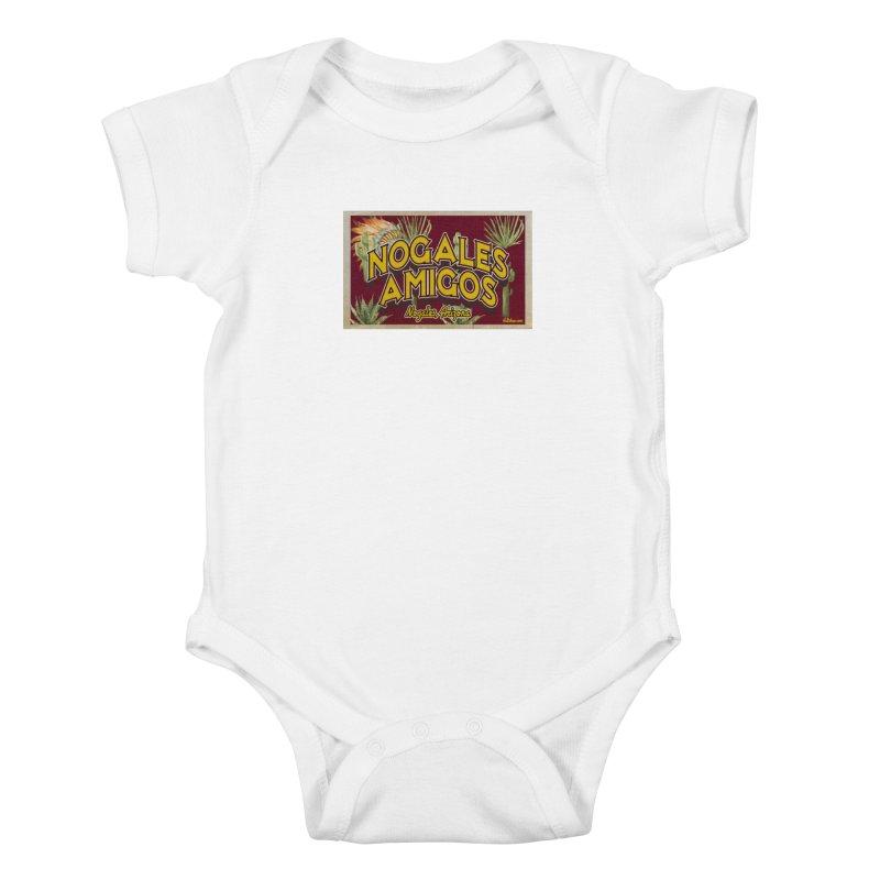 Nogales Amigos, Nogales, Arizona Kids Baby Bodysuit by Nuttshaw Studios
