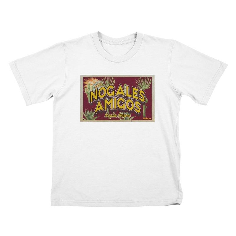 Nogales Amigos, Nogales, Arizona Kids T-Shirt by Nuttshaw Studios