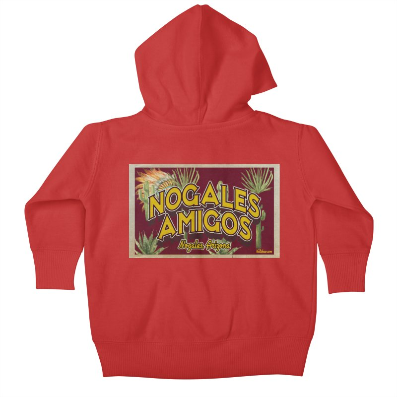Nogales Amigos, Nogales, Arizona Kids Baby Zip-Up Hoody by Nuttshaw Studios