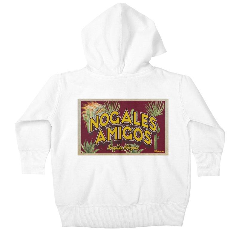 Nogales Amigos, Nogales, Arizona Kids Baby Zip-Up Hoody by Nuttshaw Studios