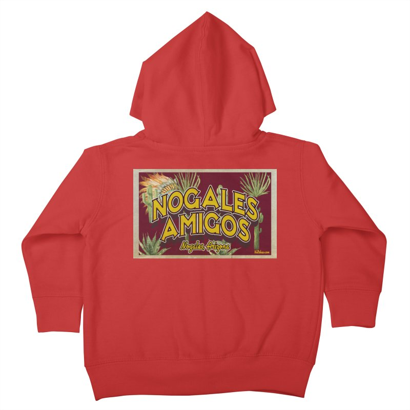 Nogales Amigos, Nogales, Arizona Kids Toddler Zip-Up Hoody by Nuttshaw Studios