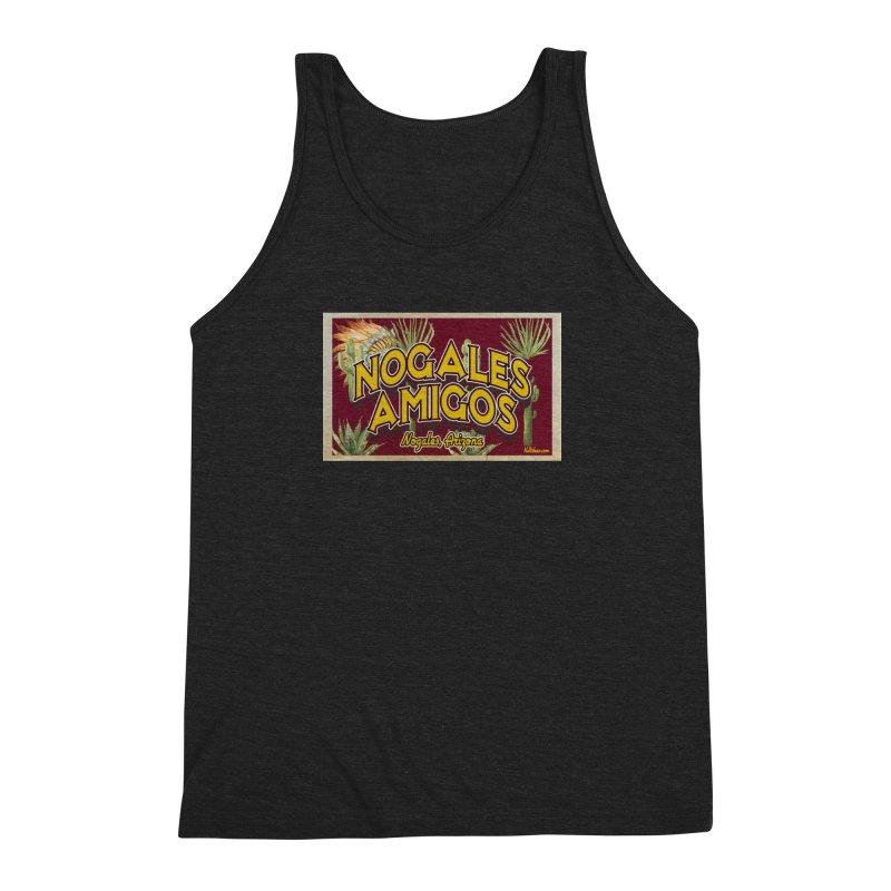 Nogales Amigos, Nogales, Arizona Men's Triblend Tank by Nuttshaw Studios