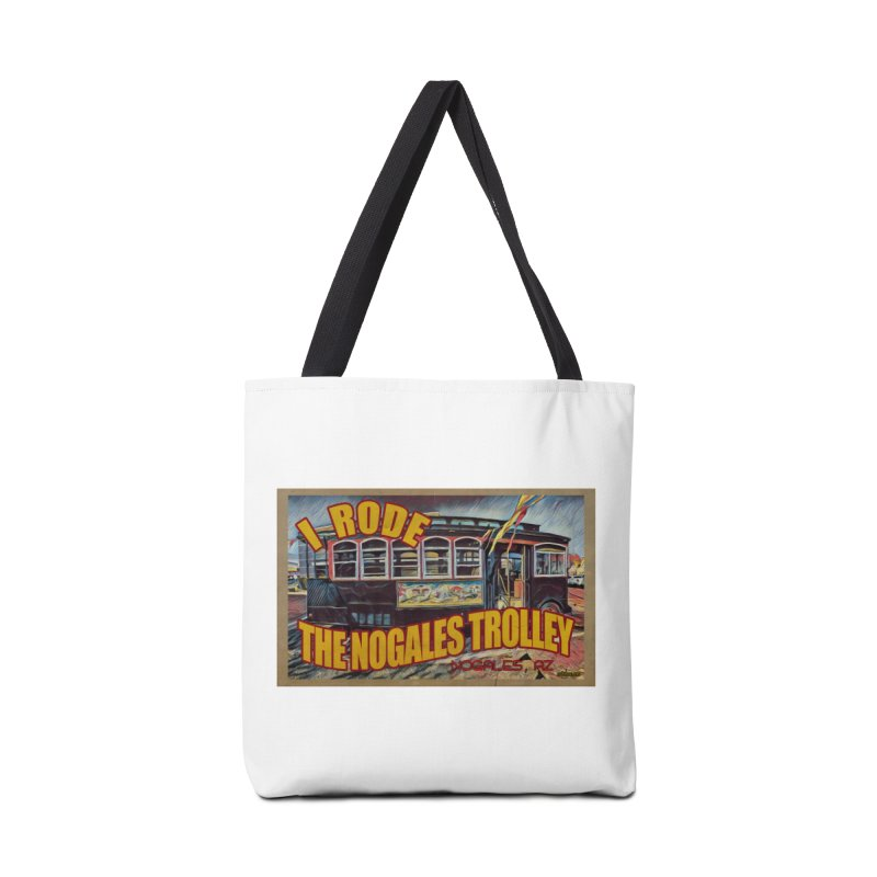 I Rode The Nogales Trolley (yellow) Accessories Tote Bag Bag by Nuttshaw Studios