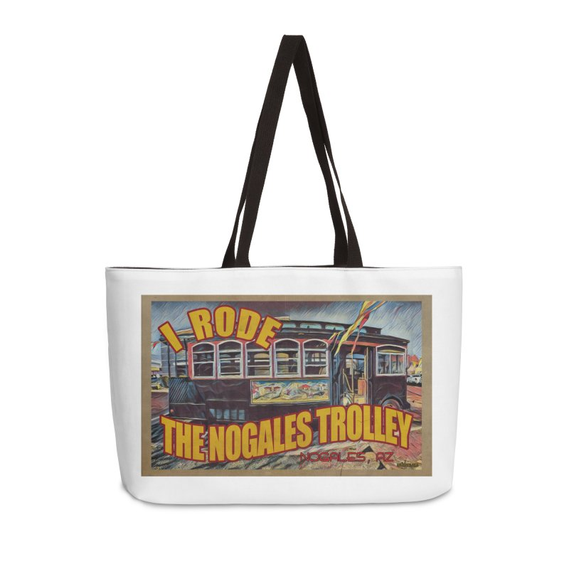 I Rode The Nogales Trolley (yellow) Accessories Weekender Bag Bag by Nuttshaw Studios