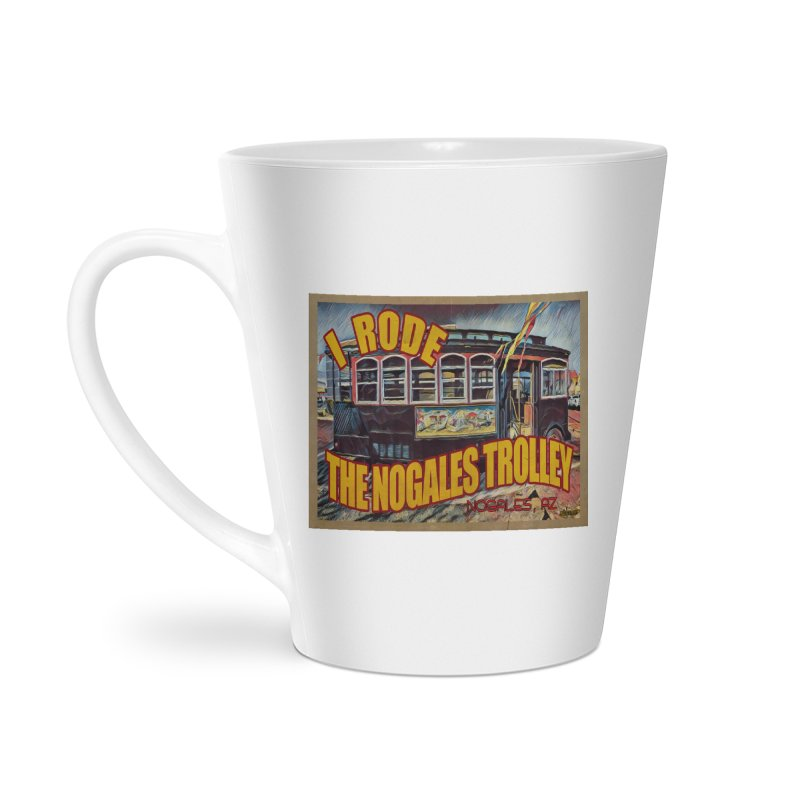 I Rode The Nogales Trolley (yellow) Accessories Latte Mug by Nuttshaw Studios