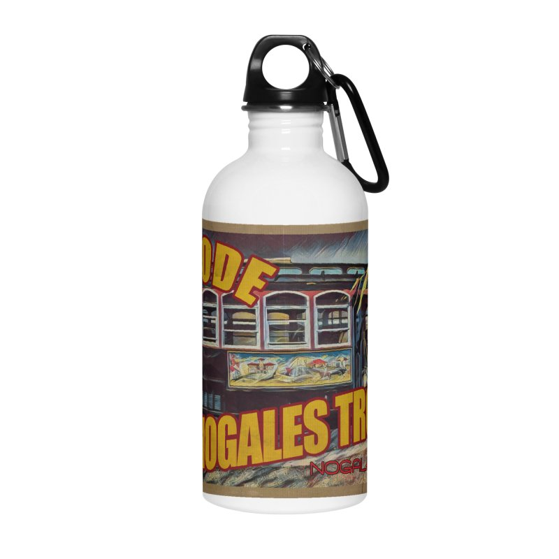 I Rode The Nogales Trolley (yellow) Accessories Water Bottle by Nuttshaw Studios