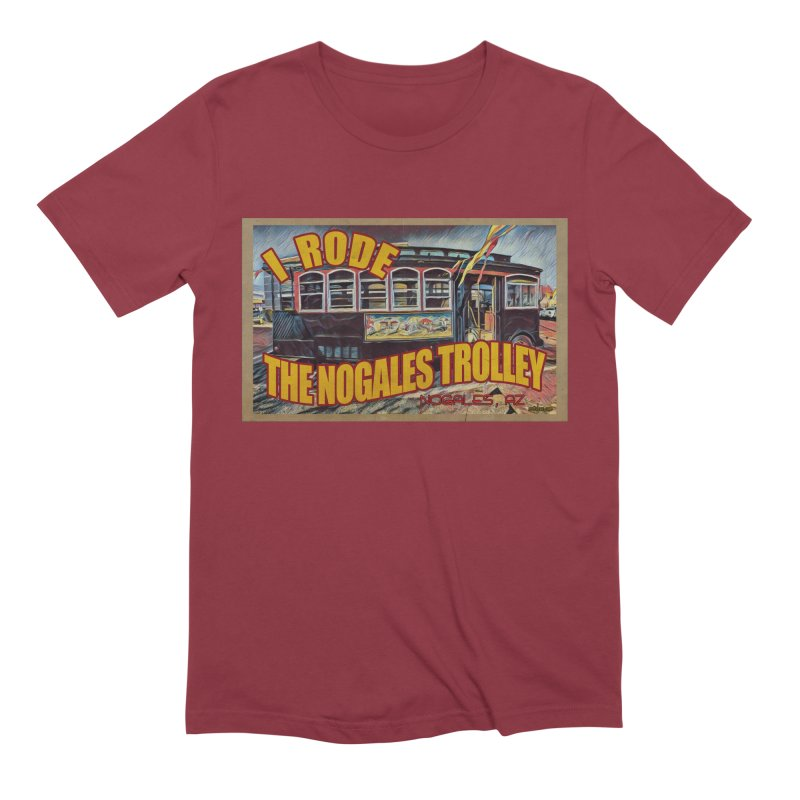 I Rode The Nogales Trolley (yellow) Men's Extra Soft T-Shirt by Nuttshaw Studios