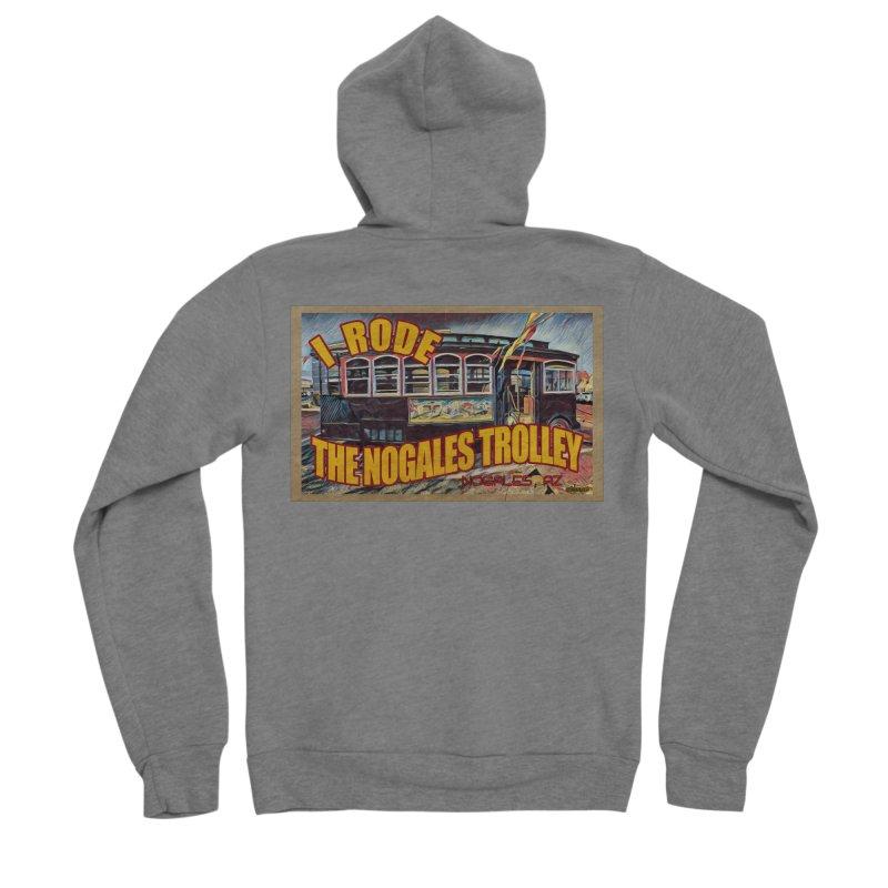 I Rode The Nogales Trolley (yellow) Men's Sponge Fleece Zip-Up Hoody by Nuttshaw Studios
