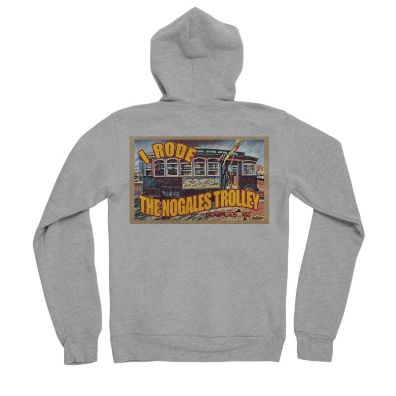 I Rode The Nogales Trolley (yellow) Women's Sponge Fleece Zip-Up Hoody by Nuttshaw Studios