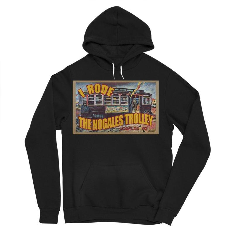 I Rode The Nogales Trolley (yellow) Men's Sponge Fleece Pullover Hoody by Nuttshaw Studios
