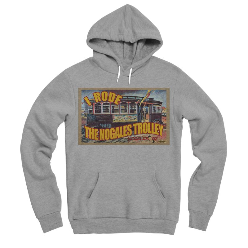 I Rode The Nogales Trolley (yellow) Men's Sponge Fleece Pullover Hoody by Nuttshaw Studios