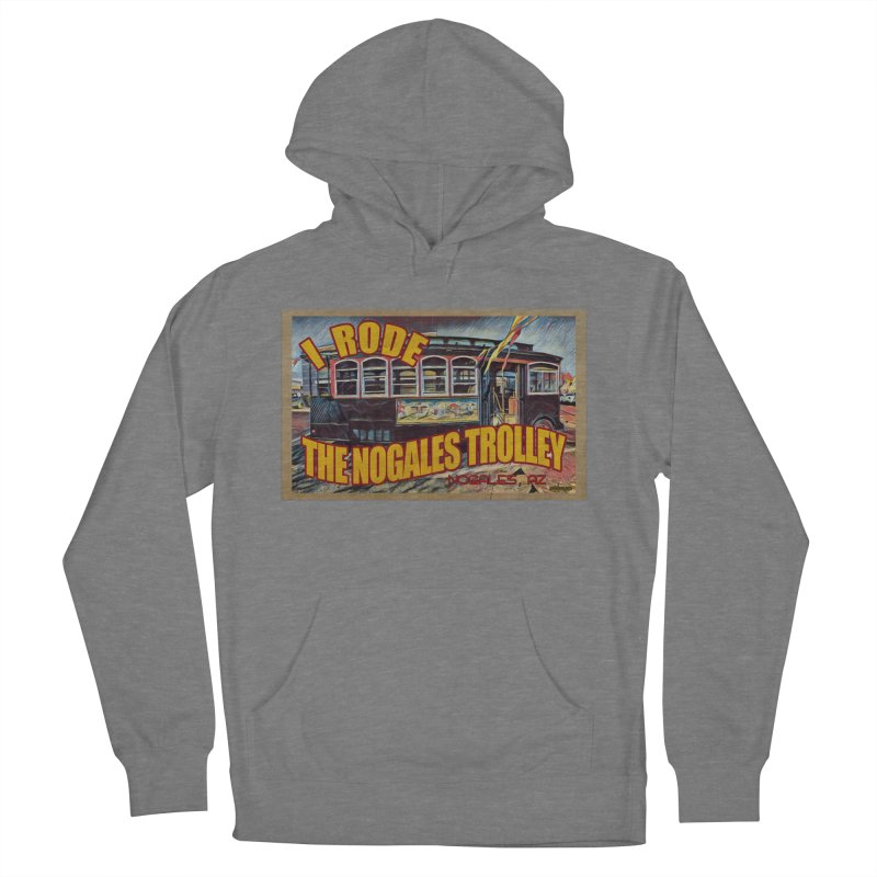I Rode The Nogales Trolley (yellow) Men's French Terry Pullover Hoody by Nuttshaw Studios