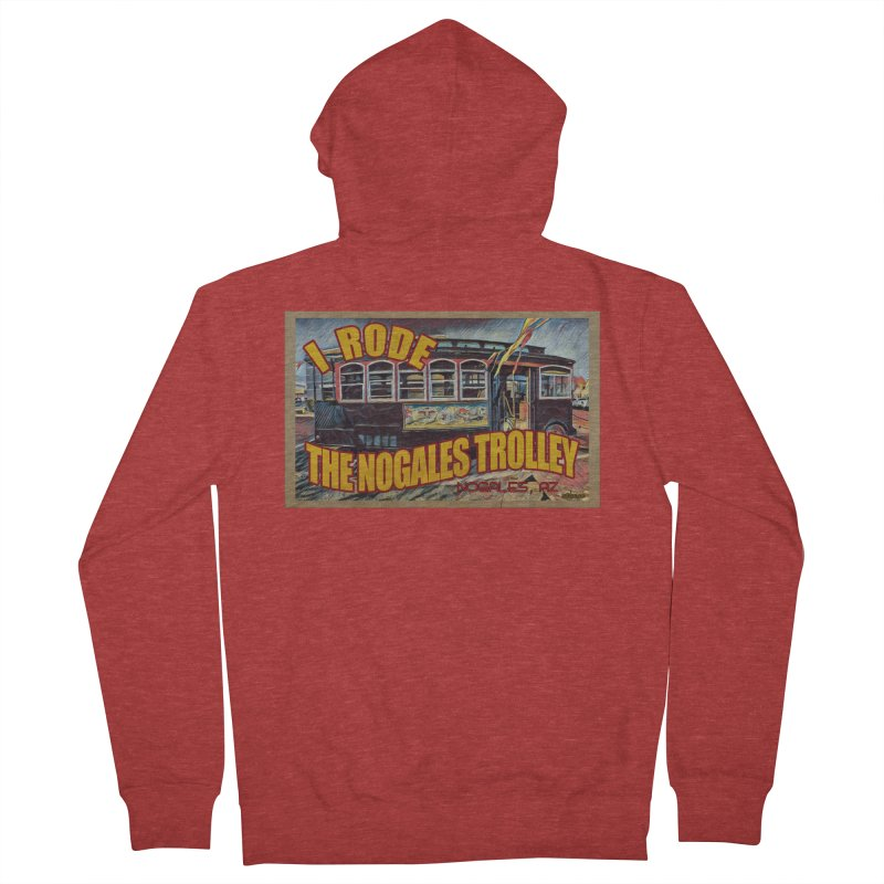 I Rode The Nogales Trolley (yellow) Men's French Terry Zip-Up Hoody by Nuttshaw Studios