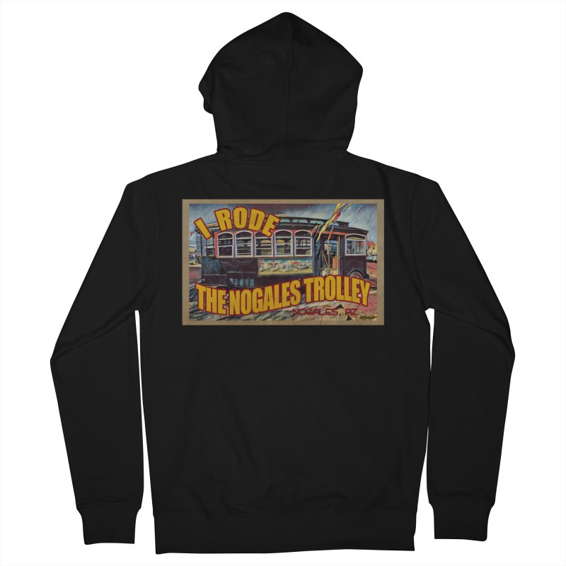 I Rode The Nogales Trolley (yellow) Men's Zip-Up Hoody by Nuttshaw Studios