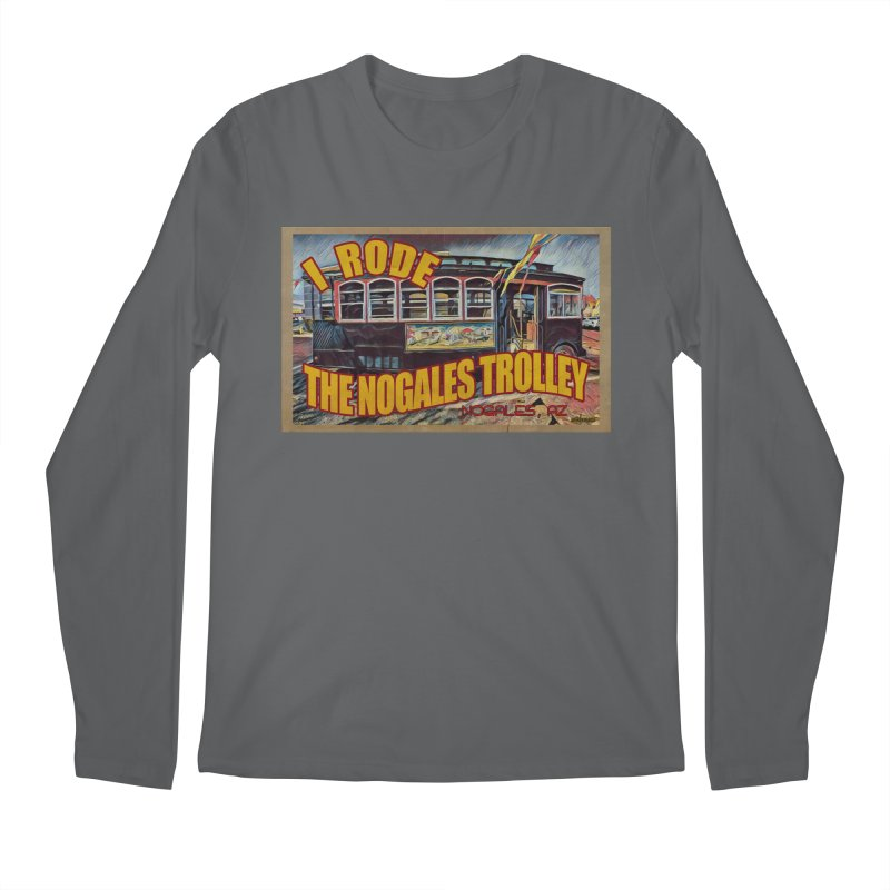 I Rode The Nogales Trolley (yellow) Men's Regular Longsleeve T-Shirt by Nuttshaw Studios