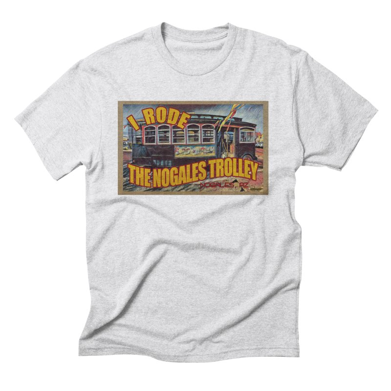 I Rode The Nogales Trolley (yellow) Men's Triblend T-Shirt by Nuttshaw Studios