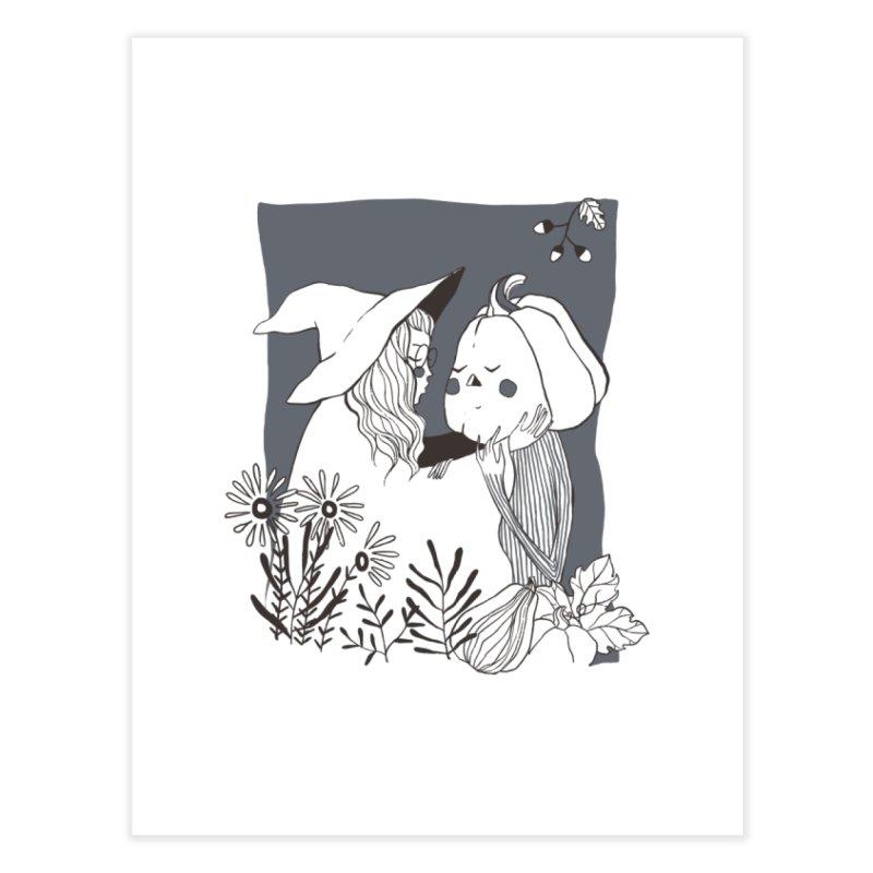 Best Friends (Gray) Home Fine Art Print by NyxThat's Artist Shop