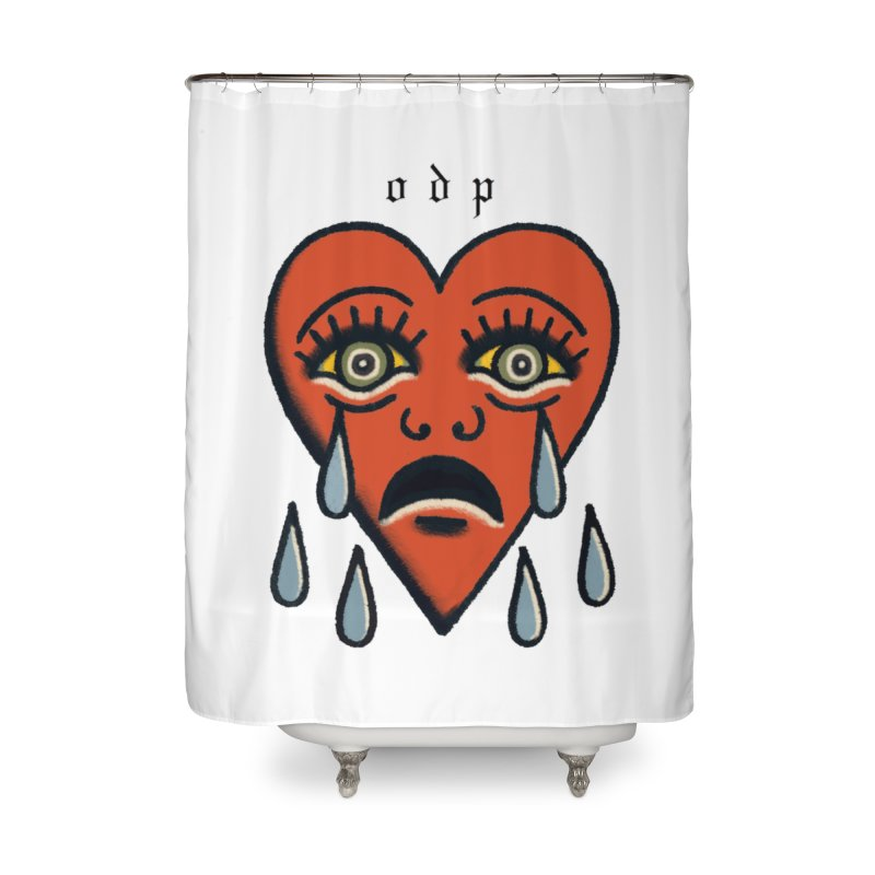 CRYING HEART Home Shower Curtain by ODP