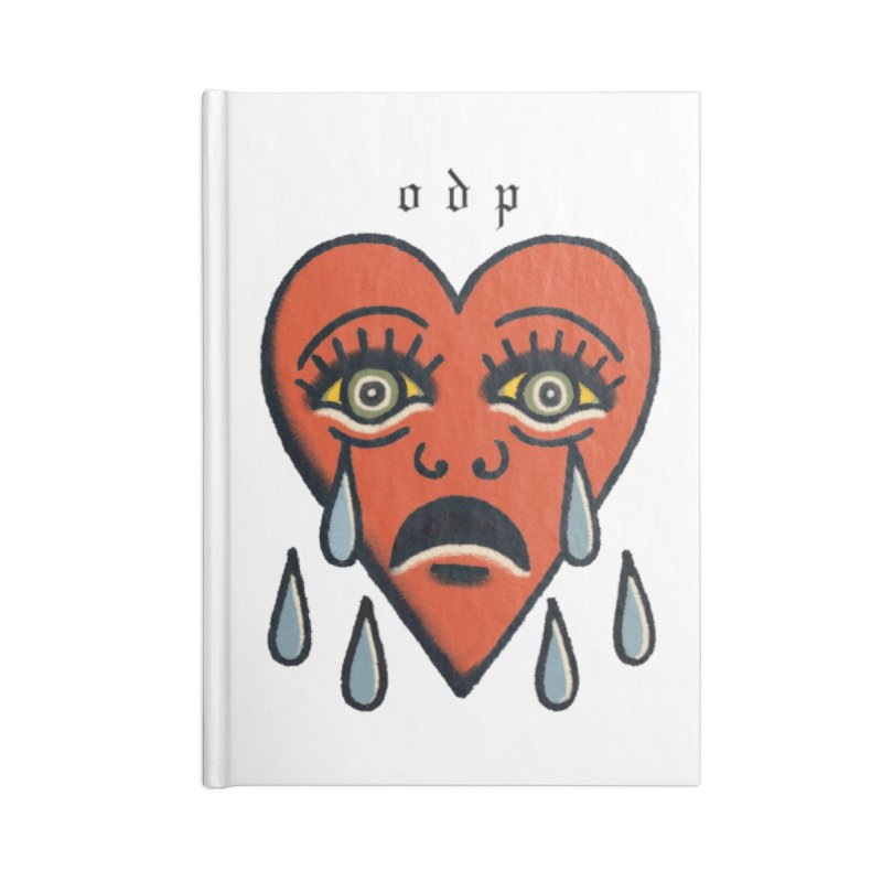 CRYING HEART Accessories Blank Journal Notebook by ODP