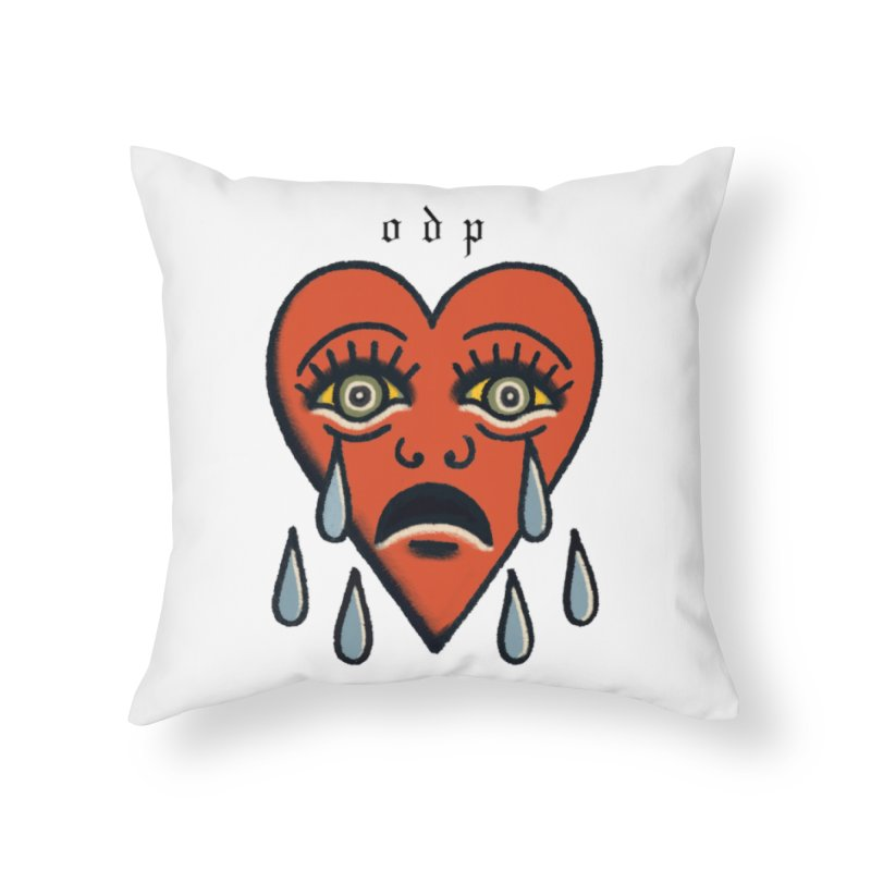 CRYING HEART Home Throw Pillow by ODP