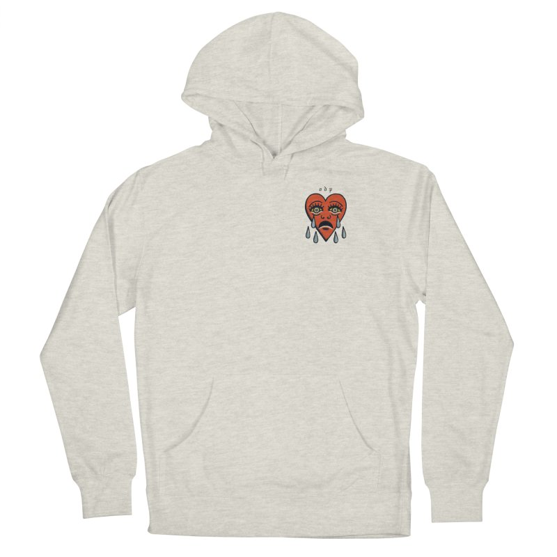 CRYING HEART Men's French Terry Pullover Hoody by ODP