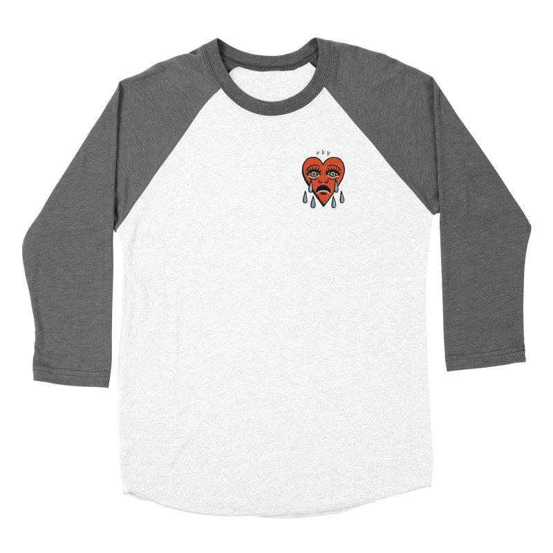 CRYING HEART Men's Baseball Triblend Longsleeve T-Shirt by ODP