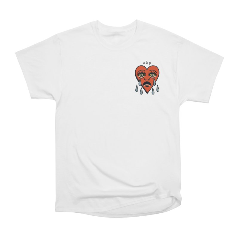 CRYING HEART Men's Heavyweight T-Shirt by ODP