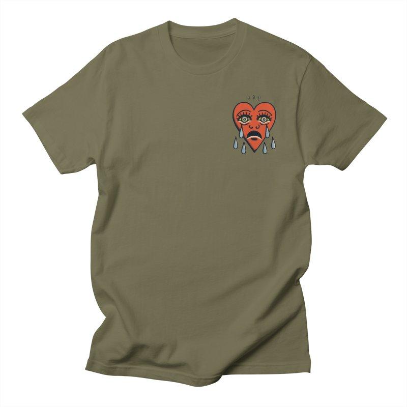 CRYING HEART Men's Regular T-Shirt by ODP