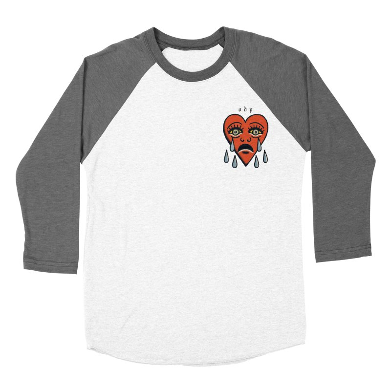 CRYING HEART Men's Baseball Triblend Longsleeve T-Shirt by ODP