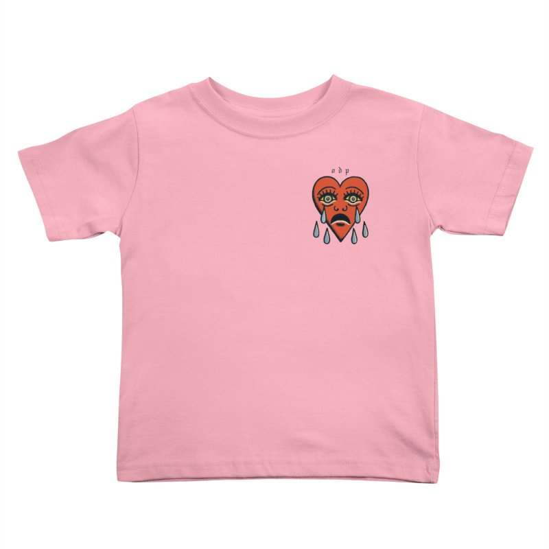 CRYING HEART Kids Toddler T-Shirt by ODP